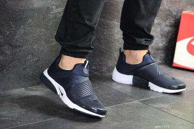 Nike Presto кроссовки мужские демисезонные темно синие с белым 7979