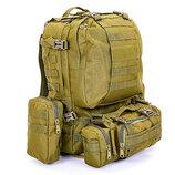 Рюкзак тактический рейдовый TY-213, 2 цвета объем 55л, размер 50х34х15см
