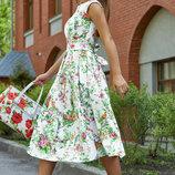 Жаккардовое летнее платье 1177