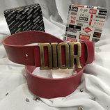Ремень кожаный красный в стиле Dior, Диор унисекс