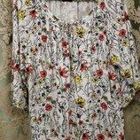Лёгкая вискозная блузка в цветочный принт F&F Англия