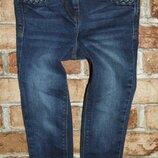 джинсы синие узкачи стрейч 4-5 лет синие