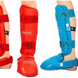 Защита голени с футами для единоборств Araza 7249 2 цвета, размер XS-XL