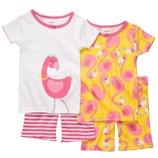 Набор из 2х хлопковых пижам для девочки Carters фламинго