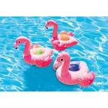 Надувной плавающий держатель для напитков Фламинго Intex 57500 держатель для стаканов 3 держателя