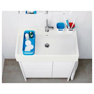 Органайзер для ванной (большой лоток + 3 бокса), глубина 350мм, белый | 400x400