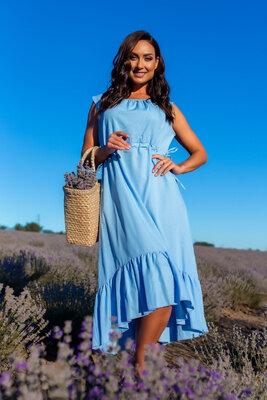 женское летнее длинное пышное классическое платье из льна лен женские летние длинные платья миди