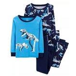 Набор из 2х хлопковых пижам для мальчиков Carters динозавры