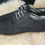 Your turn туфлі мокасіни 46 р по ст 29.5 см денім