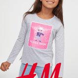 Інтерактивні реглани для дівчат 3-10 років від H&M Швеція