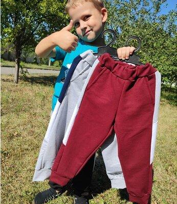 Спортивные штаны для мальчика с лампасами