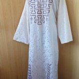 длинное платье с вышивкой этно стиль / абая / галабея