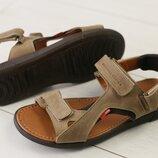 Код 8206-2 Мужские кожаные сандали на липучке сезон лето размеры 40-45 материал натуральная кожа