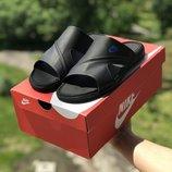 Шлепанцы мужские кожаные Nike black