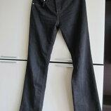 Фирменные джинсы брюки Trussardi Jeans с кожаной лямкой