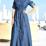 Платье -рубашка джинс коттон 42-44,44-46,46-48