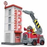 Robocar Poli Пожарная станция с фигуркой Рой