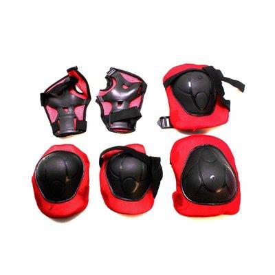 Набор Защитная экипировка красный защита для роликов, самокатов, велосипедов