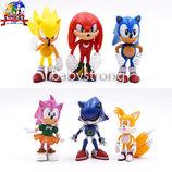 Набор фигурок Супер Соник 6 шт 6-7см и его друзья Super Sonic Ёж