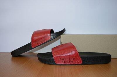 Кожаные шлепанцы Филипп Плейн