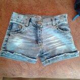 Джинсові шорти для дівчинки на 3-4 роки джинсовые шорты для девочки