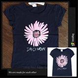 Футболка c&a/футболочка/майка из мягкого хлопка на девочку/с цветочком/ 122см