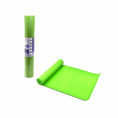 Йогамат, коврик для йоги 4мм CY0104 салатовый