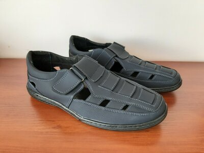 Мужские босоножки сандалии темно синие