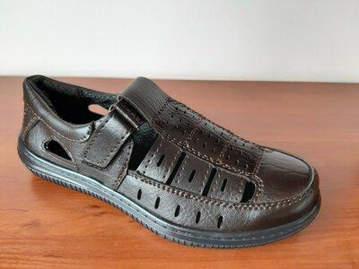 Мужские босоножки сандалии темно коричневые