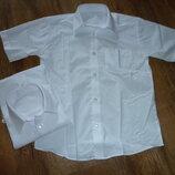 Новая белая рубашка на 7 лет рост 122 см т Adams