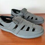 Мужские босоножки сандалии серые