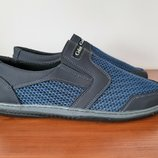 Мужские летние туфли синие