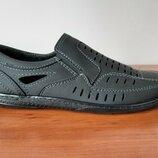 Мужские летние туфли черные