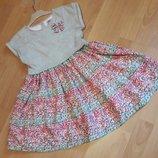 Бомбезное платья обманка 6-7 лет