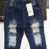 Шорты джинс р. 100-110 дырки не сквозные