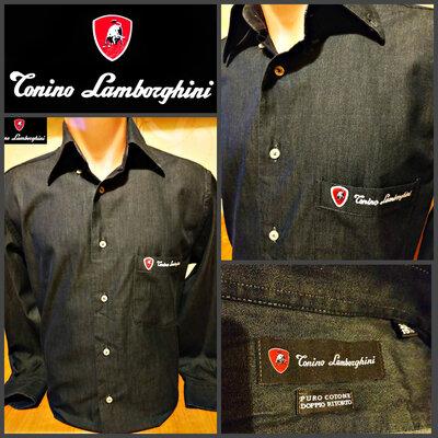 эсклюзиваня, дорогая рубашка от Tonino Lamborghini, оригинал, Италия