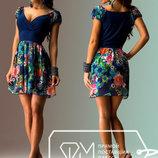 Платье- сарафан женский мини. Шифон.