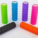 Роллер массажный для йоги и пилатеса Grid Bubble Roller 6672 длина 45см 6 цветов