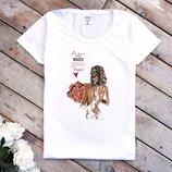 Жіночі футболки кольоровий принт   Женские футболки