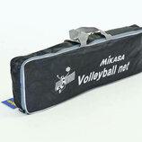 Сетка для волейбола с металическим тросом Mikasa 6390 размер 9,5x1м, ячейка 12x12см