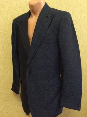 мужской пиджак PAL ZILERI LAB оригинал slim fit 81% лен 9% шёлк размер 52