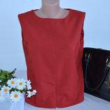 Брендовая красная блуза без рукавов топ на молнии woodpecker casual collection