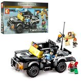 Конструктор Sembo 102347 Аналог Лего Lego SWAT Джип 339 деталей