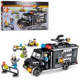 Конструктор Sembo 102348 Аналог Лего Lego SWAT Фургон 391 деталей