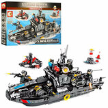Конструктор Sembo 102447 Аналог Лего Lego SWAT Катер 769 деталей