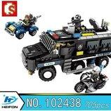 Конструктор Sembo 102438 Аналог Лего Lego SWAT Отряд 705 деталей