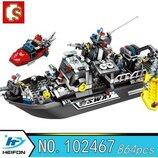 Конструктор Sembo 102467 Аналог Лего Lego SWAT Пехота 864 детали