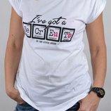 Удлиненная футболка с принтом secret р.s-м оверсайз модель