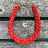Колье-Косичка ожерелье бусы