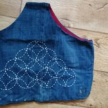Эксклюзивная сумка-Бохо с вышивкой в технике сашико пляжная шоппер